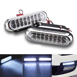 2x-Super-Bright-16-LED-Car-Daytime-Running-Light-DRL-Fog-Day-Driving-Lamp-White