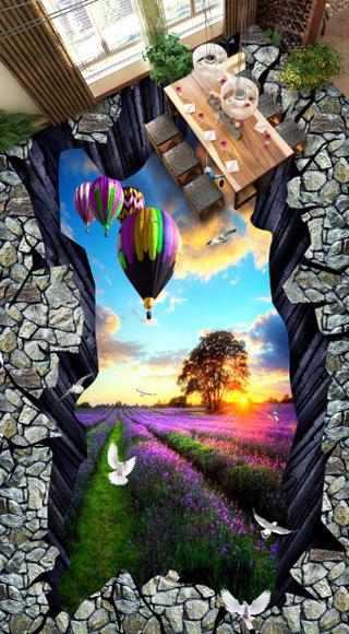 3D Blaumenfeld 451 Fototapeten Wandbild Fototapete Tapete Familie DE Lemon