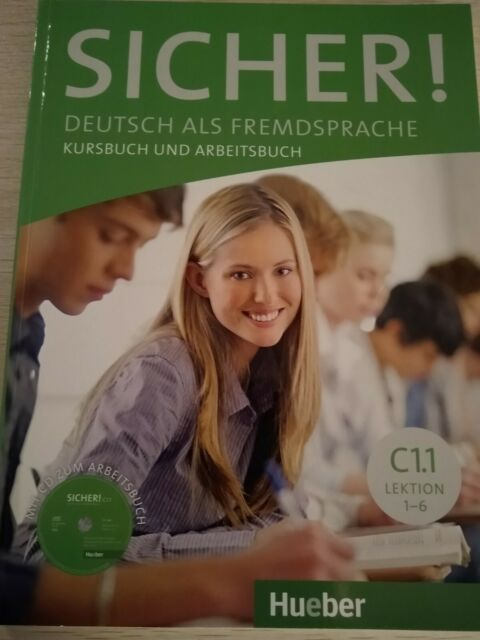 Sicher! C1.1 Kursbuch und Arbeitsbuch mit CD, Lektion 1-6 (Hueber) NEU
