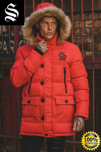 SNRS ATTIRE Red Arctic Parka Jacket Gym Muscle Hera Sik Sin 11