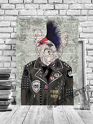 GENTLEMAN FLAMINGO ILLUSTRATION FRAMED CANVAS PICTURE ARTWORK #77 POSTER