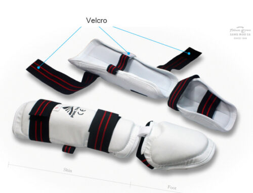Taekwondo SANGMOOSA Shin Instep Protector Foot Guard Training Gear Martial Art