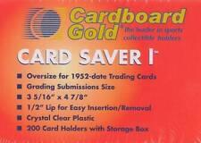 Cardboard Gold Card Saver 1 - 100 Card Savers