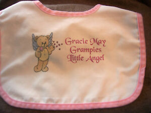 Personalised-Baby-Bibs-Christening-New-Born-Any-Text-Photo-GIFT-WRAPPED-FREE-P-amp-P