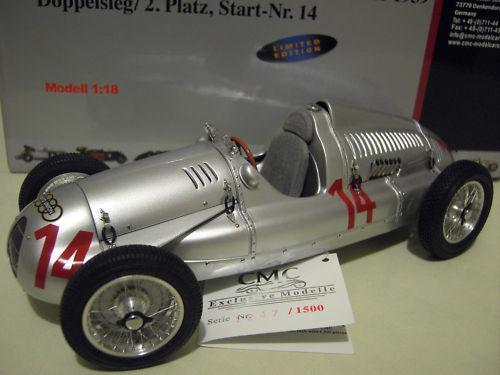 AUTO UNION TYP D 1939   14 GP FRANCE SCHORSCH o 1 18 CMC M090 voiture miniature
