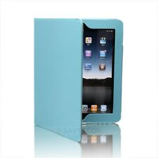 Baby Blue Magnetic iPad 1 1st Generation Leather Case Cover with Build in Stand