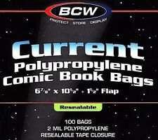 100 Current Resealable Comic Bags and Boards - BCW Archival Book Storage