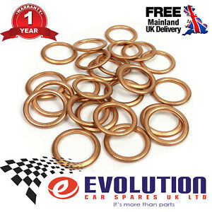 25X-GASKET-FOR-THE-OIL-DRAIN-PLUG-FITS-FORD-CITROEN-VAUXHALL-PEUGEOT-JX6Q6734AA
