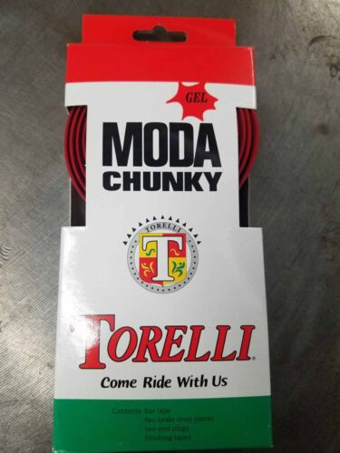Torelli Chunky Gel Poignée Bar Tape-Rouge-PLUS Rembourrage = confort et fonction