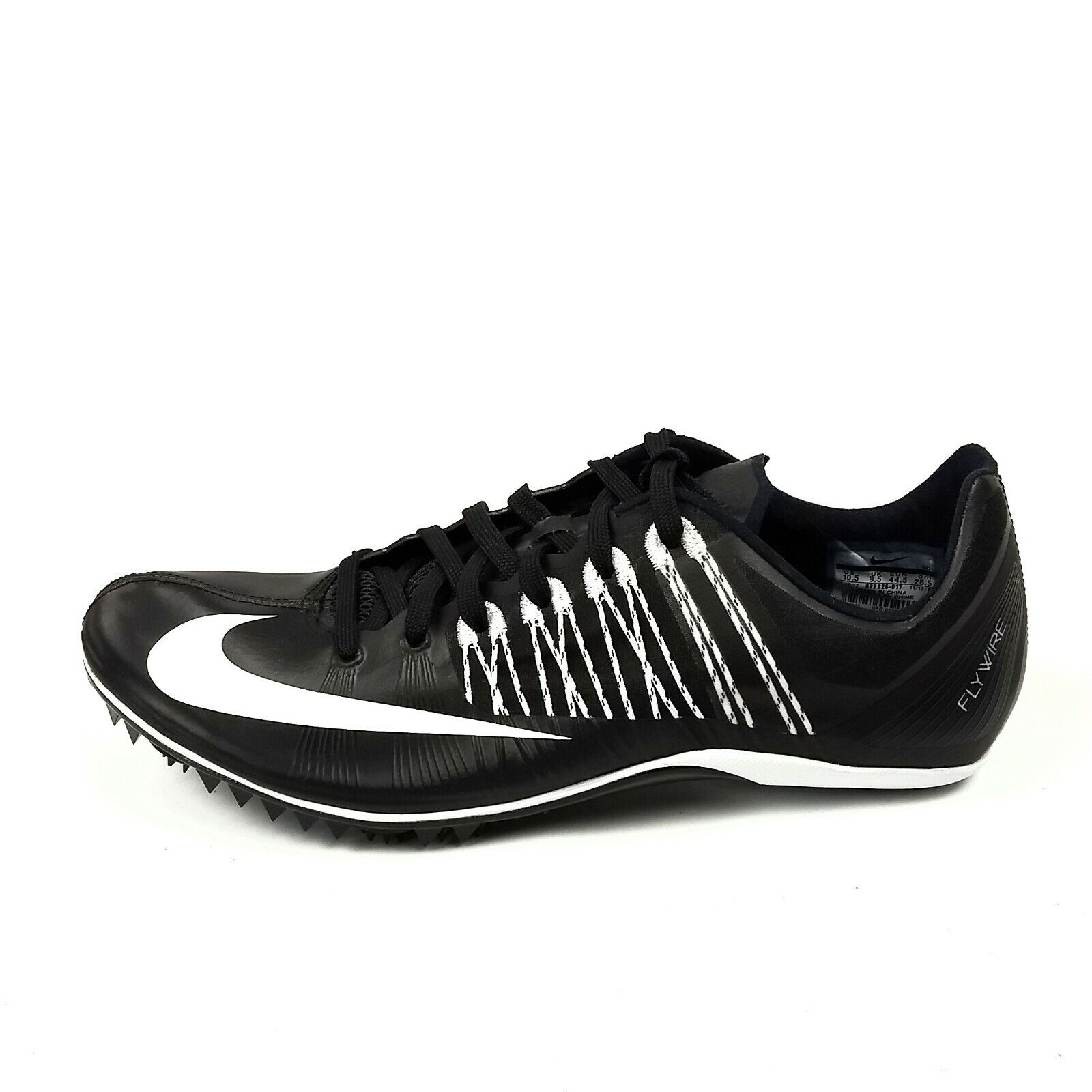 Nike Zoom Celar 5 Track Field Spikes shoes Mens Size 10.5 Black White 629226-017