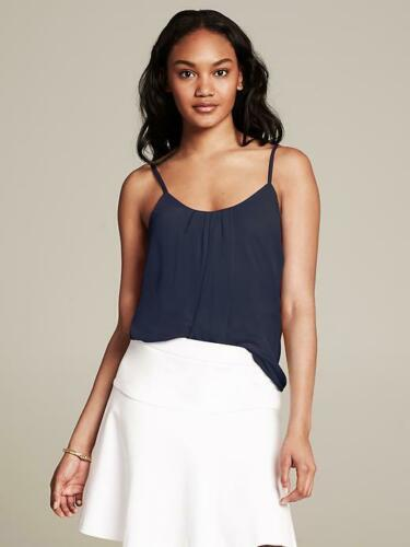 Top Viscose Preppy Cami Maat Banana Polyester Navy Republic Gathered M Nwht WqtnTCI