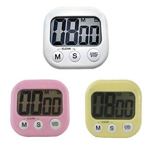 grand lcd digital minuteur chronomètre sablier horloge de cuisine