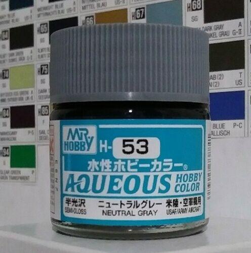 Gunze Aqueous Hobby Color H-53 Semi-Gloss Neutral Gray.