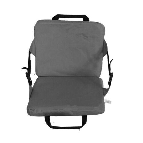 Portable Folding Cushion Chair Wide Stadium Bleacher Seat Lightweight Outdoor