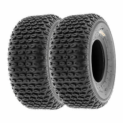 Set of 2 SunF All Terrain ATV Tires 19x7-8 19x7x8 Sport 6 PR A015 Tubeless