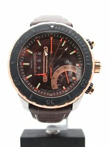 1f08ea429 Timex TX Men's Linear Chrono Rose Gold Tone Brown Leather Band Watch ...