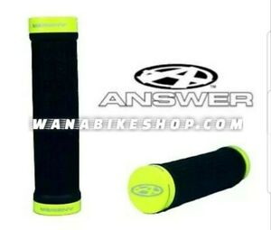 Answer-Bmx-Lock-On-Grips-105mm-Black-Hi-Viz