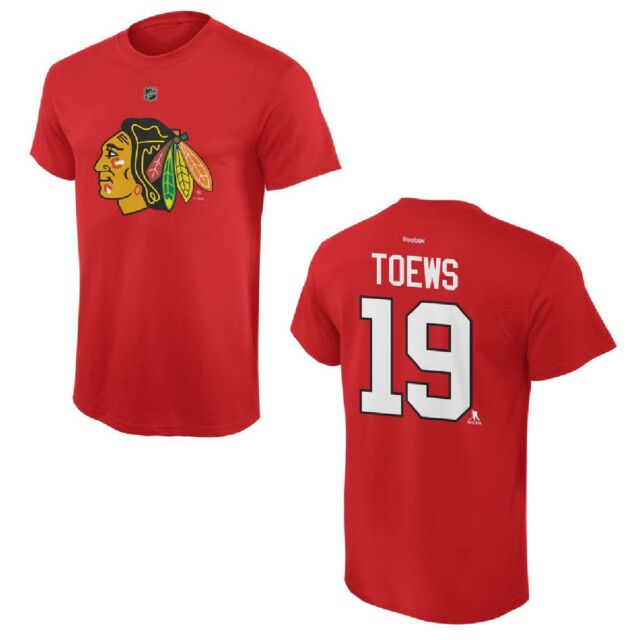 341b5088fa0 Buy Reebok Jonathan Toews Chicago Blackhawks Youth Red Player Name ...