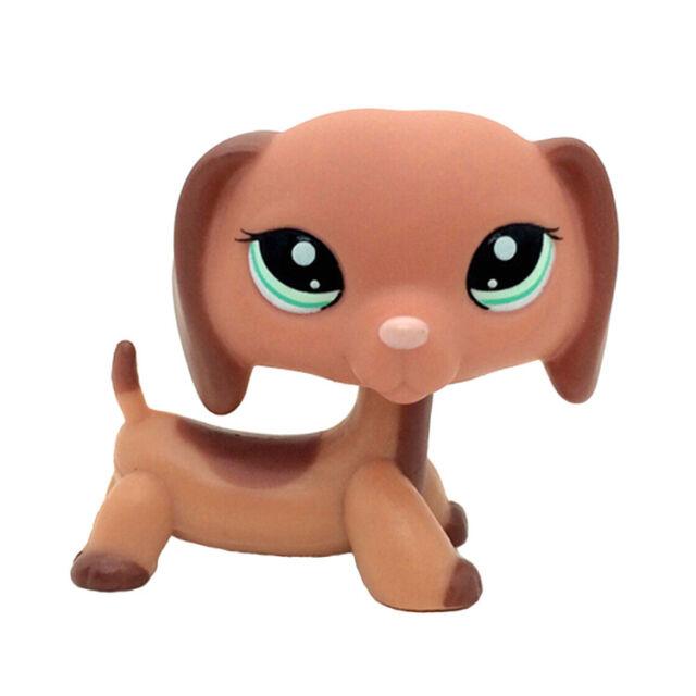 Littlest Pet Shop #325 LPS Animal Loose Toy Chien Teckel Black Dachshund Dog Kid