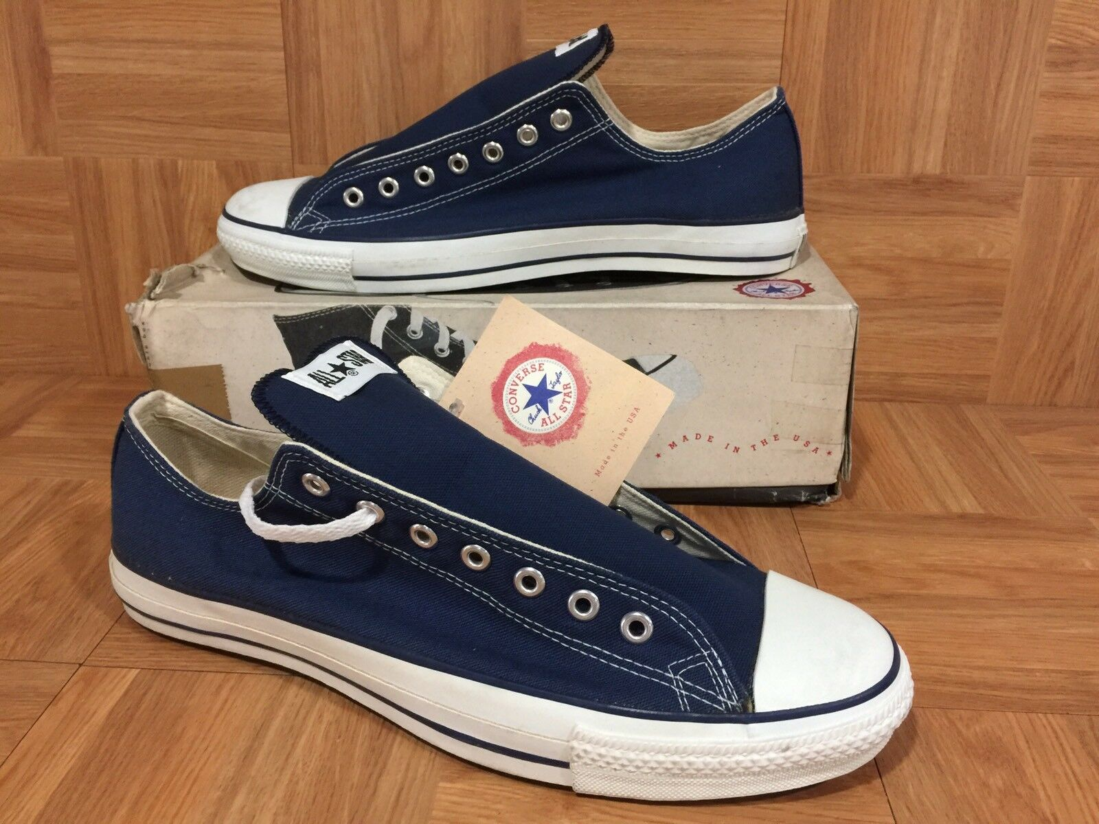 VTG Converse Chuck Taylor All Star Original Hi bluee Canvas Made In USA 13  5