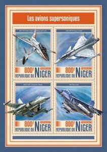 Niger - 2017 Supersonic Aircrafts - 4 Stamp Sheet - NIG17511a