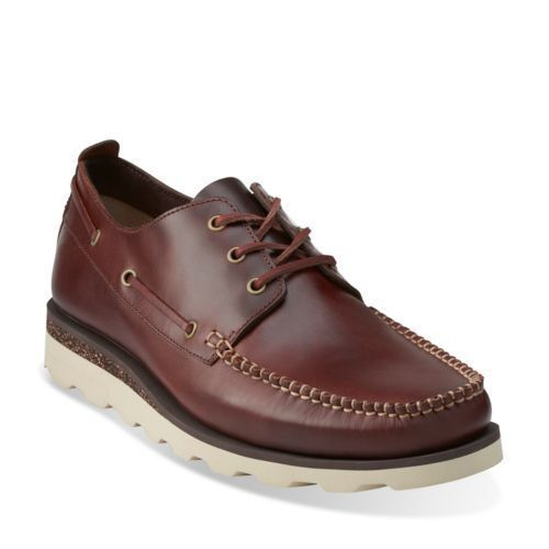 Clarks Mens Ut ** Dakin Row ** Mahogany Lea ** Trendy & Smart** UK 7,8,9,10,11 G