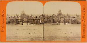Parigi Hotel Dei Invalides Francia Foto C.G.Stereo Vintage Albumina c1870
