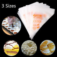 100 X Disposable Icing Piping Bags for Pastry Cake Cupcake Decorating Sugarcraft