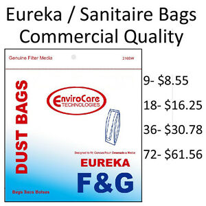 Sanitaire / Eureka F&G Upright Vacuum Bags by EnviroCare (Commercial Quality)
