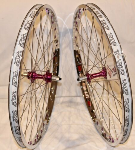 - Neuf Derringer environ 60.96 cm BMX Roue de bicyclette Set SUN TNT vélos Chrome//Violet 24 in