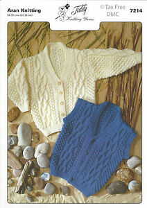 Vat Free Hand Knitting Pattern Only Aran Baby Child Cardigan