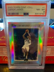 2003 TOPPS CONTEMPORARY COLLECTION LEBRON JAMES RC ROOKIE #1 PSA 8 *POP 18* 📈