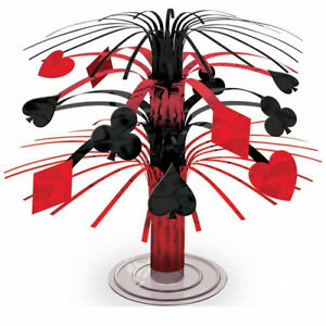 CASINO-PARTY-SUPPLIES-CARDS-2-X-MINI-TABLE-CENTREPIECE-19cms-TWO-PIECES