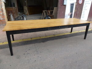 Agreable ... Superbe Table De 300 Cm De Ferme Usine