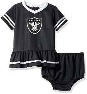 1179a76bf NFL Oakland Raiders Infant Dazzle Dress   Panty Size 3 Month Youth ...