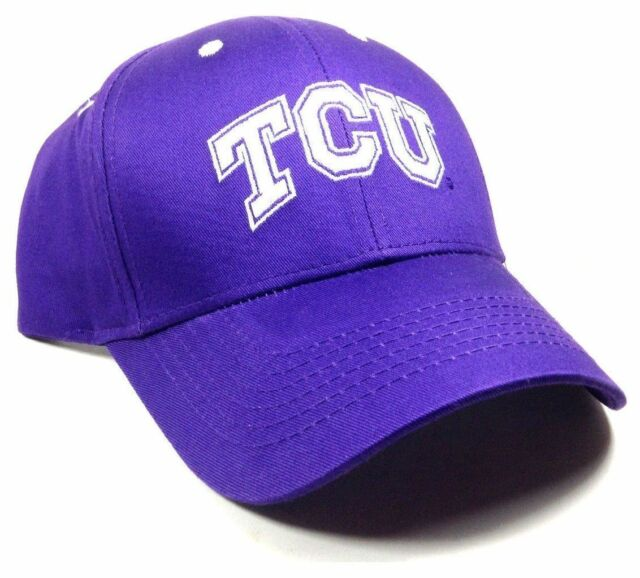 ef925a55411 PURPLE NCAA TEXAS CHRISTIAN UNIVERSITY TCU HORNED FROGS LOGO ADJUSTABLE HAT  CAP