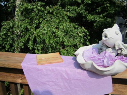L OCCITANE EN PROVENCE GLAZED POTTERY SOAP DISH or DECORATIVE TILE W//INSIGNIA