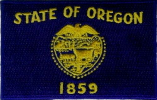 """3 Pcs Oregon USA State Flag Embroidered Patches 3.5/""""x2.25/"""" iron-on"""