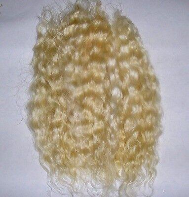 MOHAIR REBORN DOLL HAIR WAVY - BLENDED LIGHT GOLD BLONDES 10grams smaller reborn