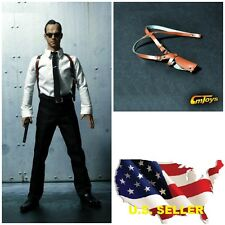 1/6 scale Leather Shoulder Holster for Agent detective police hot toys phicen US
