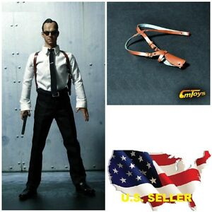 1-6-Scale-Leder-Schulter-Holster-fuer-Agent-Detective-Police-Hot-Toys-Phicen-USA