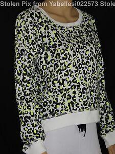 7d9ccfd701eb $139 Neon Snow Leopard True Religion Women Sweater Sweatshirt Hoodie ...
