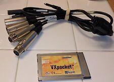 Digigram VXpocket V2 Laptop S/PDIF PC Card Digital AES Audio Recording Interface