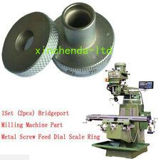 Set 2pcs Bridgeport Milling Machine Parts Metal Screw Feed Dial Scale Ring