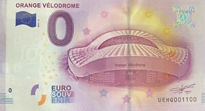 BILLET-0-EURO-ORANGE-VELODROME-FRANCE-NUMERO-1100