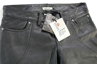 Harley Davidson Womens Highland Contoured Boot Cut Black Leather Pants 2 6 8 10