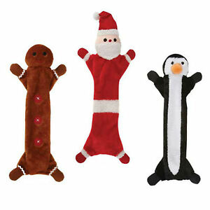 Unstuffie-Holiday-Christmas-Santa-Gingerbread-Man-or-Penguin-dog-toy-toys-gift