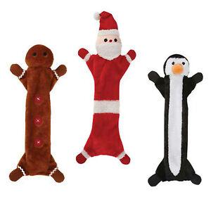 Unstuffie-Holiday-Christmas-Santa-Gingerbread-Man-Penguin-or-Elf-dog-toy-B22