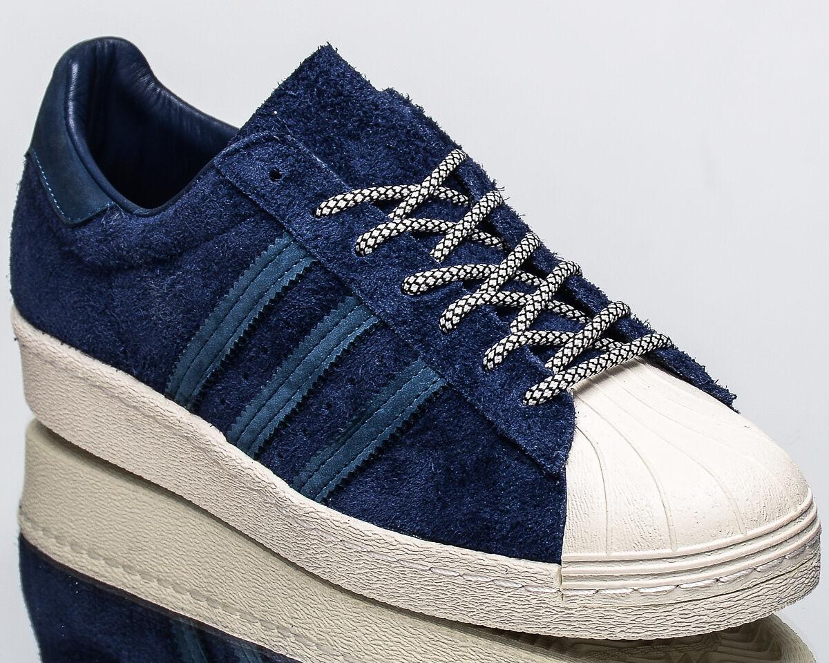 Adidas Originals Superstar 80s hombres estilo de vida informal Tenis Nuevo Azul S76639