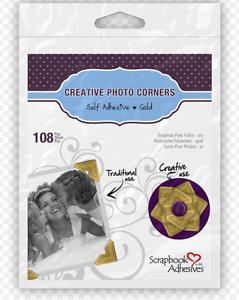01630 New 3L CREATIVE PHOTO CORNERS KRAFT SELF ADHESIVE 108 ea.